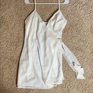 Tobi white and gold dress